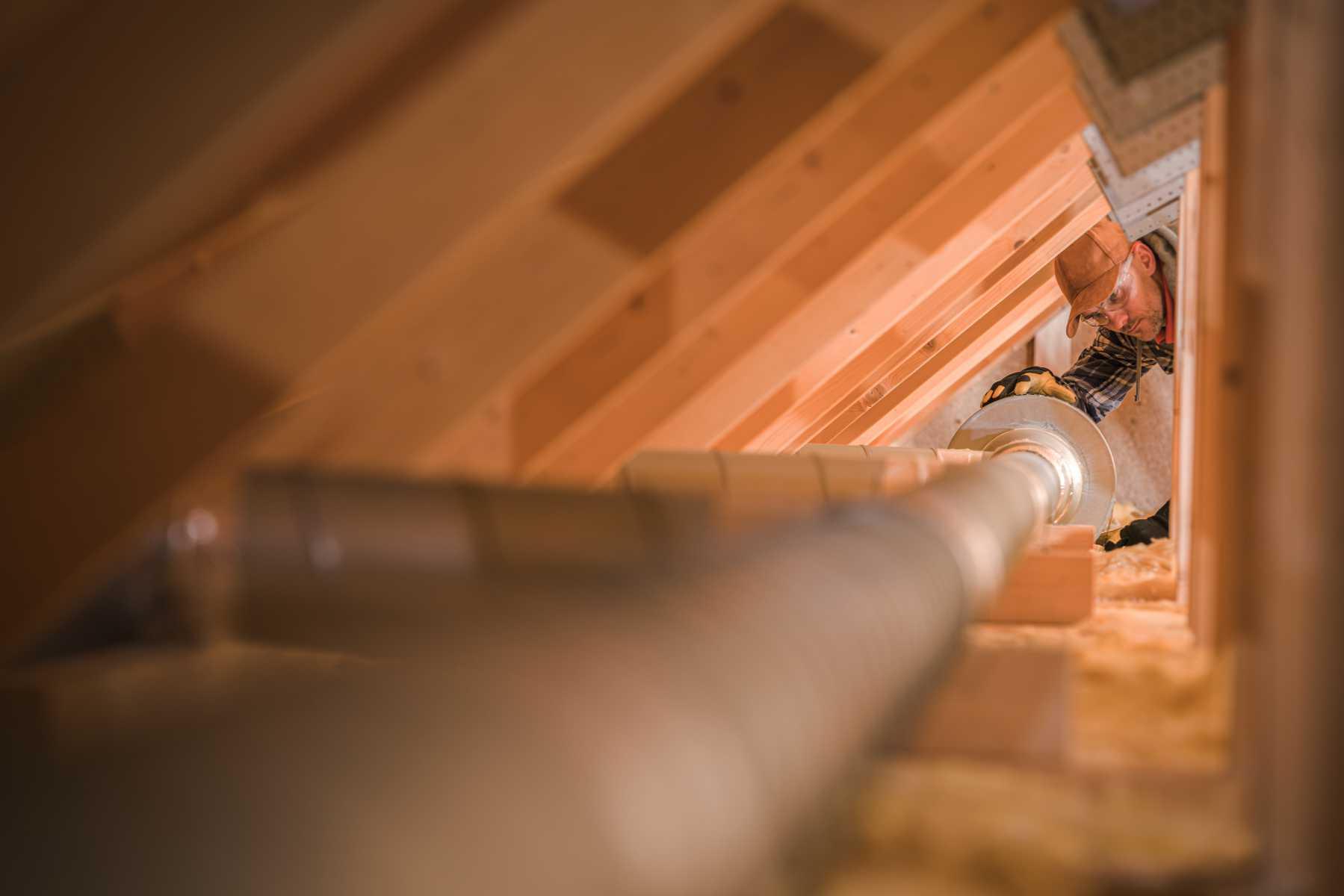 inspection de grenier de maison